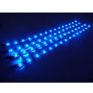Automotive Led Light Strips Extraordinary 4 Pcs 30Cm Car Truck Flexible Waterproof Led Light Strip Blue Decorating Inspiration