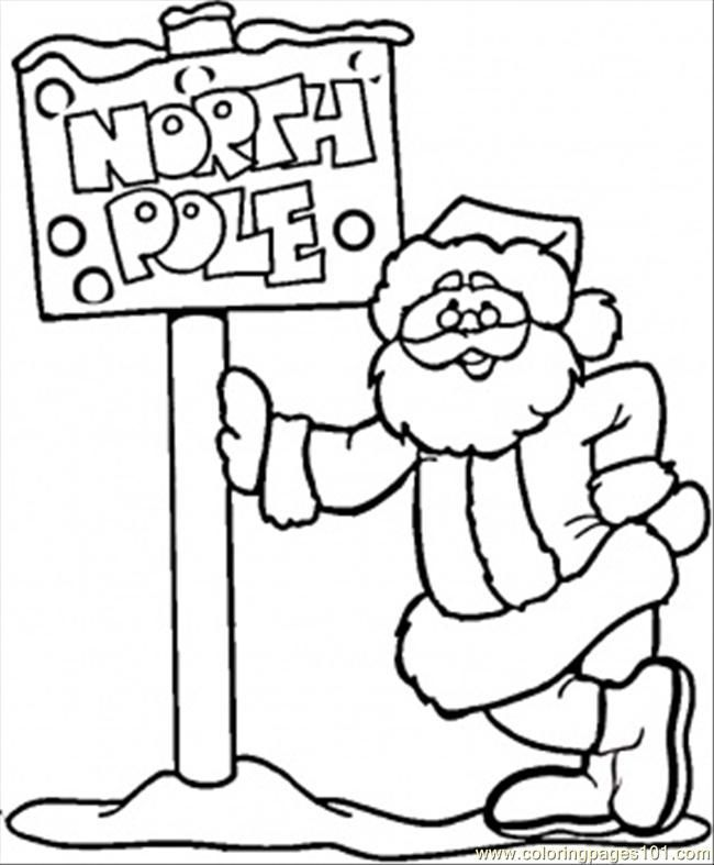 Coloring Pages North Pole And Santa Countries North South Poles