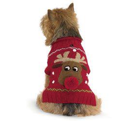 Alpaca Reindeer Holiday Dog Sweater Dog Clothes Dog Holiday Dog Gifts