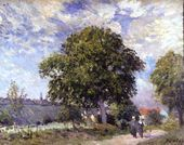 The Entrance to the Village, c.1880 - Alfred Sisley - www.alfredsisley.org