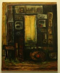Early Original Oil Painting Dark Monument by by PeggysAntiques, $399.99
