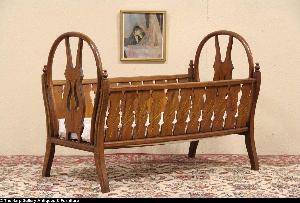 Victorian Baby Cradle Sold Victorian 1890 Antique Baby Bed Or