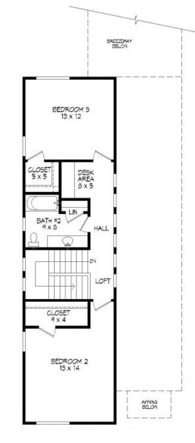 Plano planta alta casa de dos pisos y 3 dormitorios for Casa minimalista guayaquil