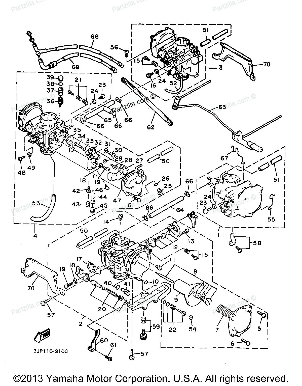 Carburetor diagram for 1997 yamaha vmax 600