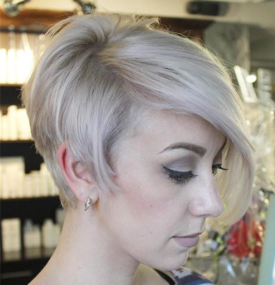 Long pixie with side bangs haircuts for fine hair pinterest