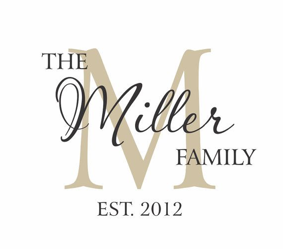 Family Name Vinyl Wall Decal Established Year Last Name Decal - Custom vinyl wall decals sayings for family room