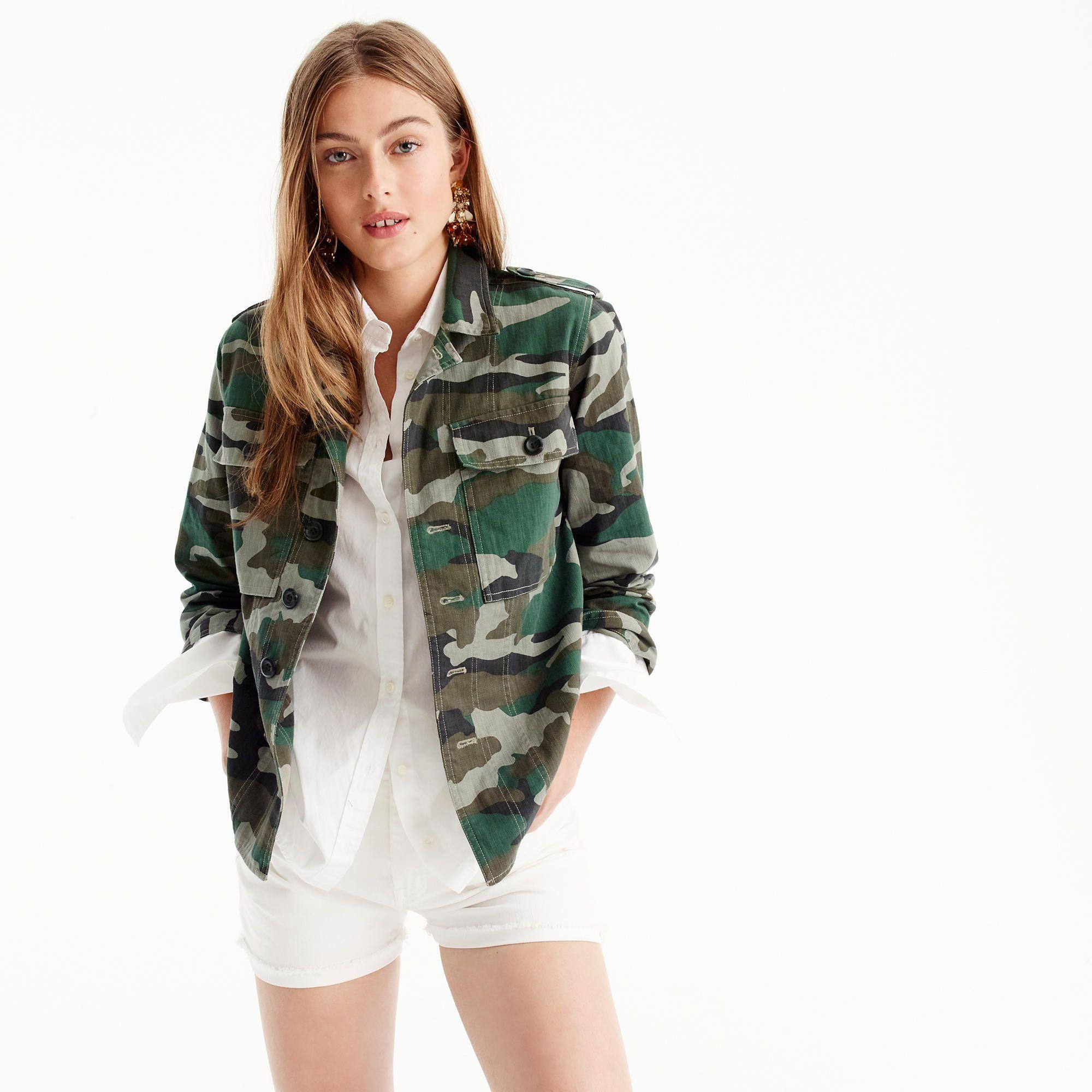 51d9ed0a38175 Camouflage utility shirt-jacket : Women cotton | J.Crew | Christmas ...