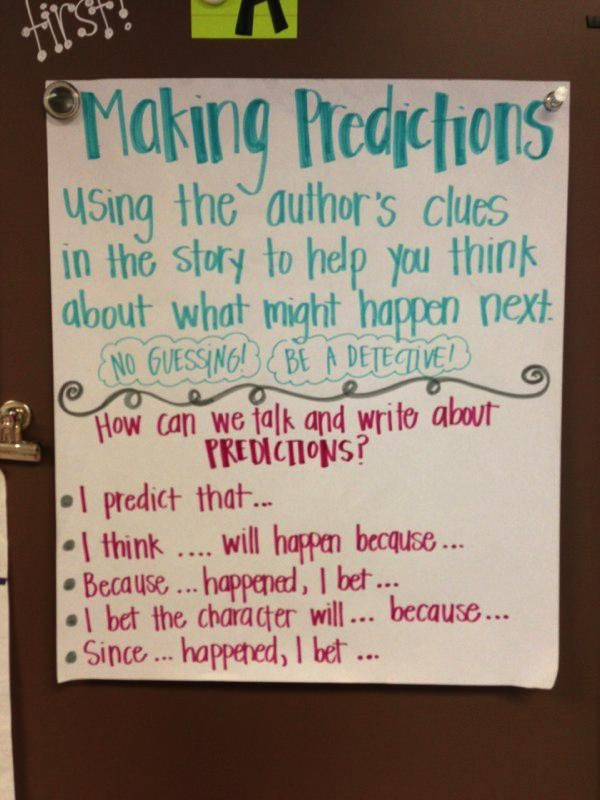 Prediction Anchor Chart on Pinterest