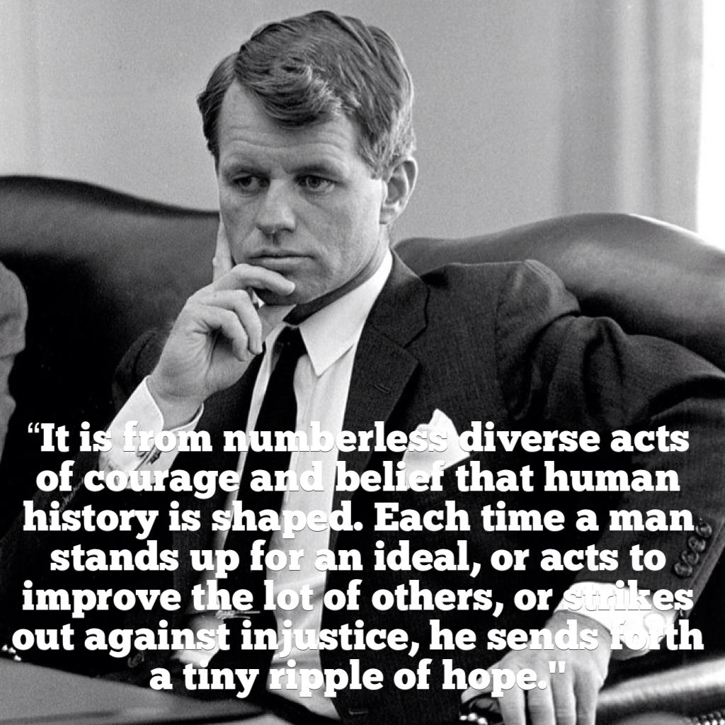 Robert F. Kennedy Quote on Human History Inspirational
