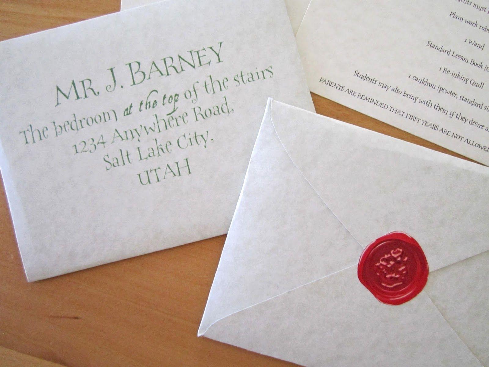 Harry Potter Acceptance Letter Template Envelope | Poemview.co