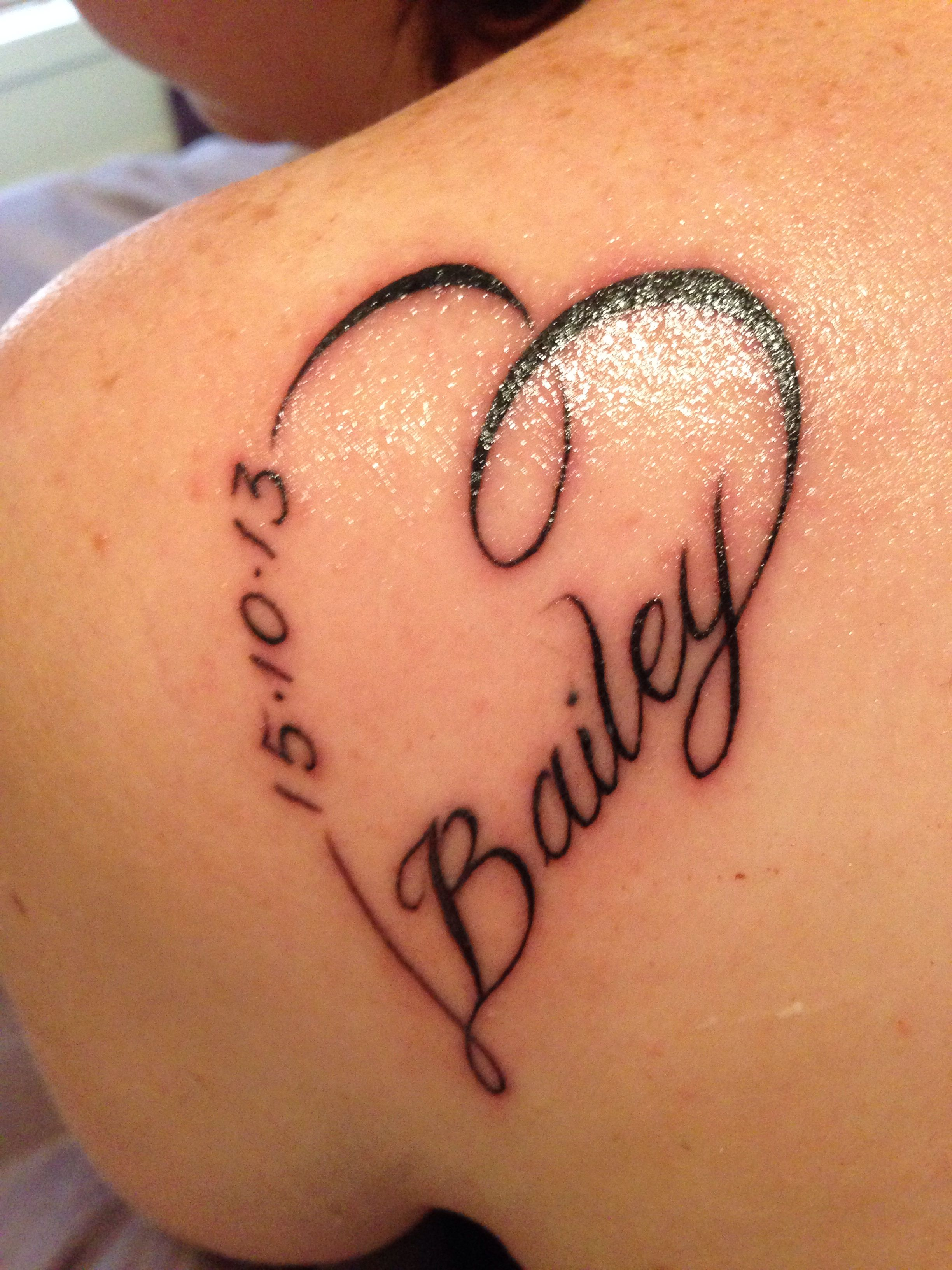 My tattoo for my son Bailey