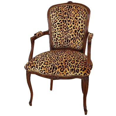 1950s Leopard Velvet Carved Armchair In 2020 Chair Armchair