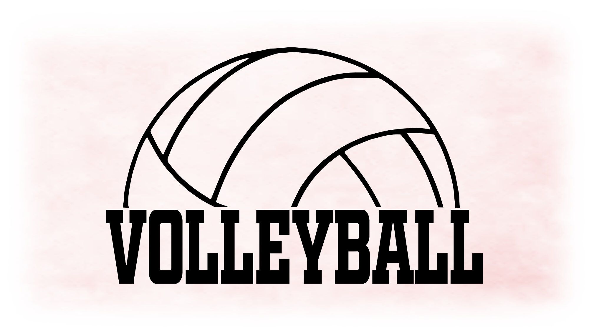 Sports Clipart Large Black White Half Volleyball Shape With Word Volleyball Make Into Any Color Digital Download Jpg Png Svg In 2020 Clip Art Large Black Black And White