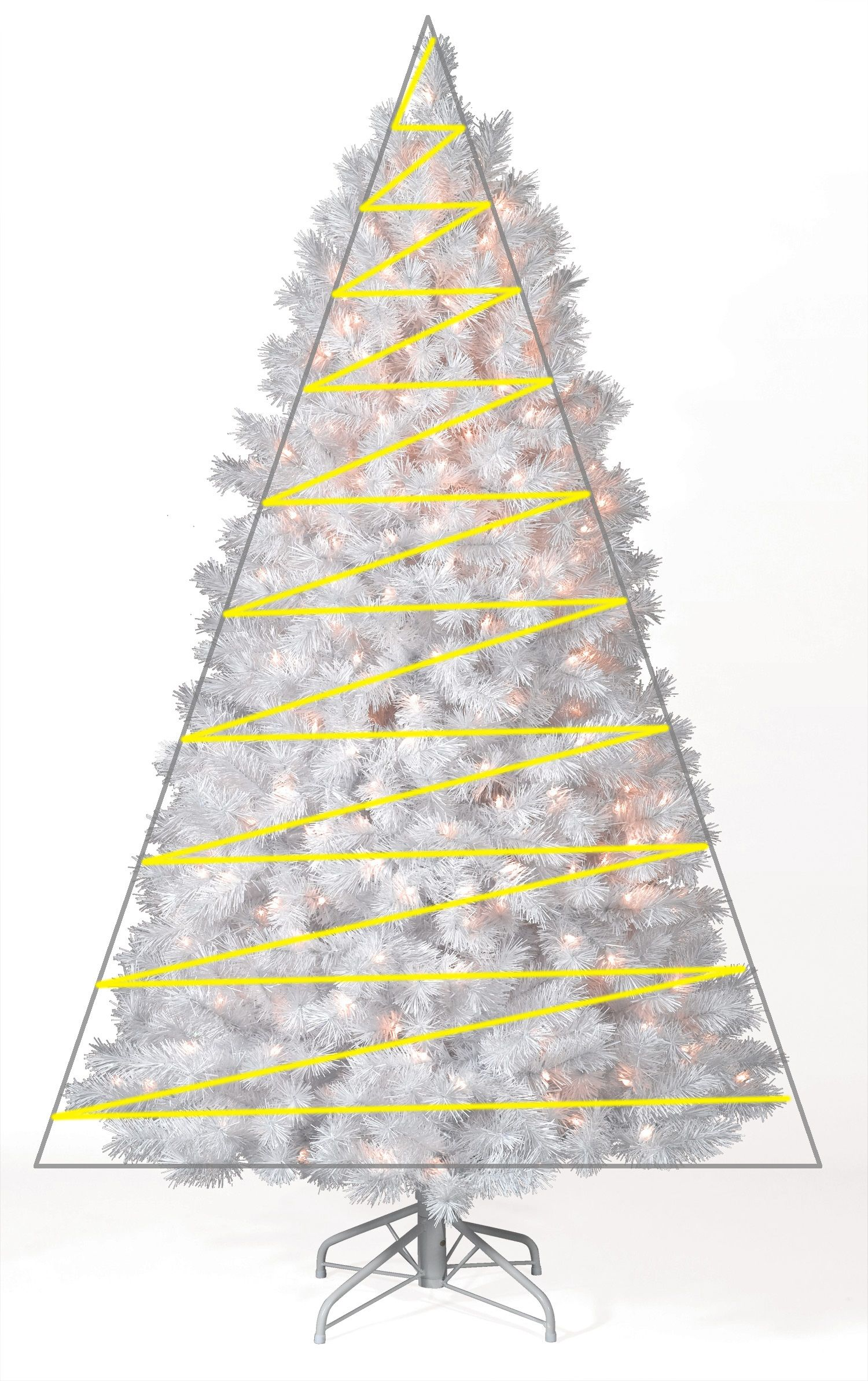 How to Hang Light on a Christmas Tree: The Triangle Method ...