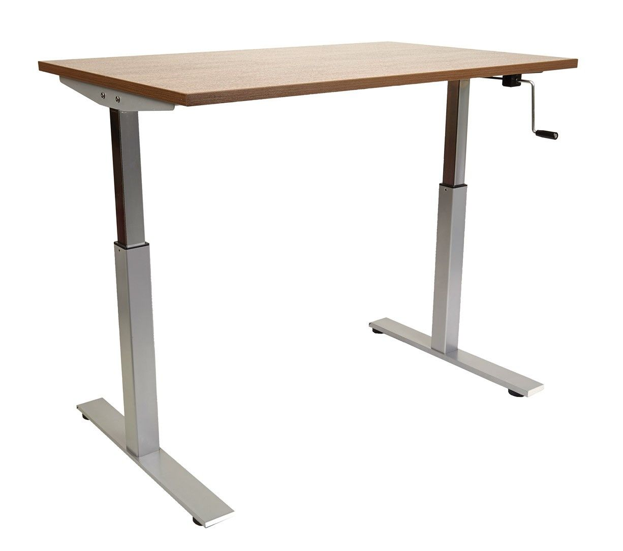 Rectangular Crank Adjustable Height Desk | Crank Table in