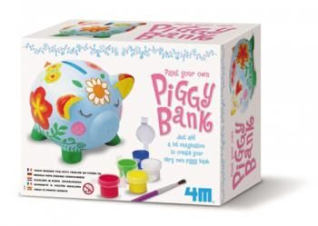 Contains 1 terra-cotta piggy bank at 8 cm tall, paint strip, paint brush and detailed instructions.