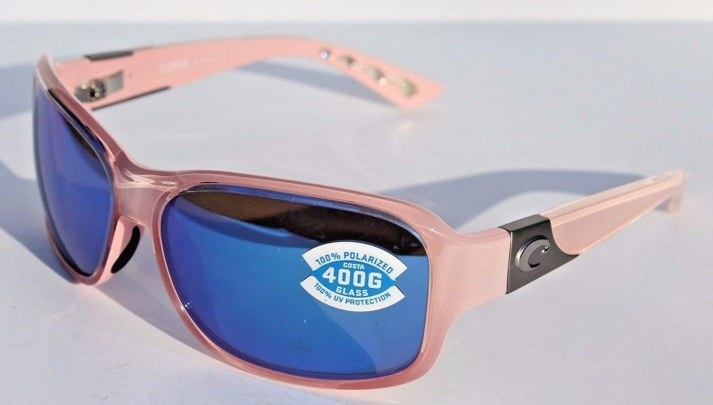 3814a5da0da5c Costa Del Mar Inlet Polarized Sunglasses Womens Coral Pink Blue Mirror 400G