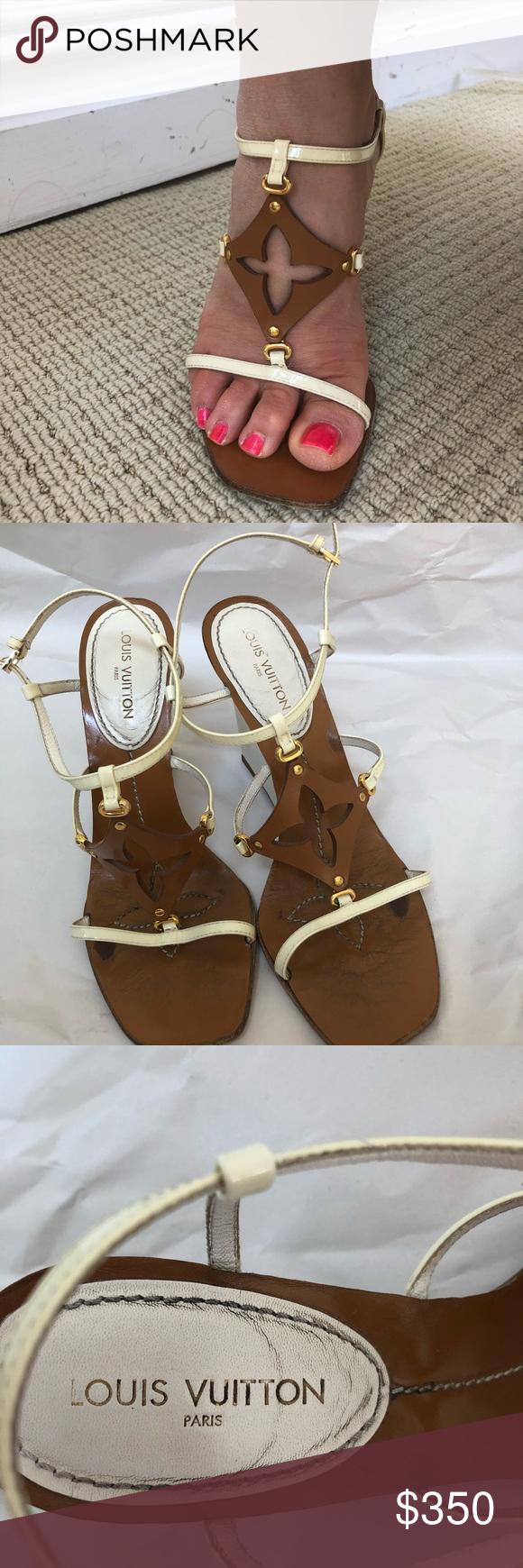 96ca7ce34368 🔴Authentic Louis Vuitton Monogram Sandals❤ 🔴❤ 🌺 Authentic Louis Vuitton  Monogram CAPRICIEUSE wedge Sandals Size 39 preloved.