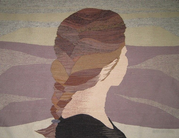 Her by Erin M Riley (tapestry, wool, cotton)
