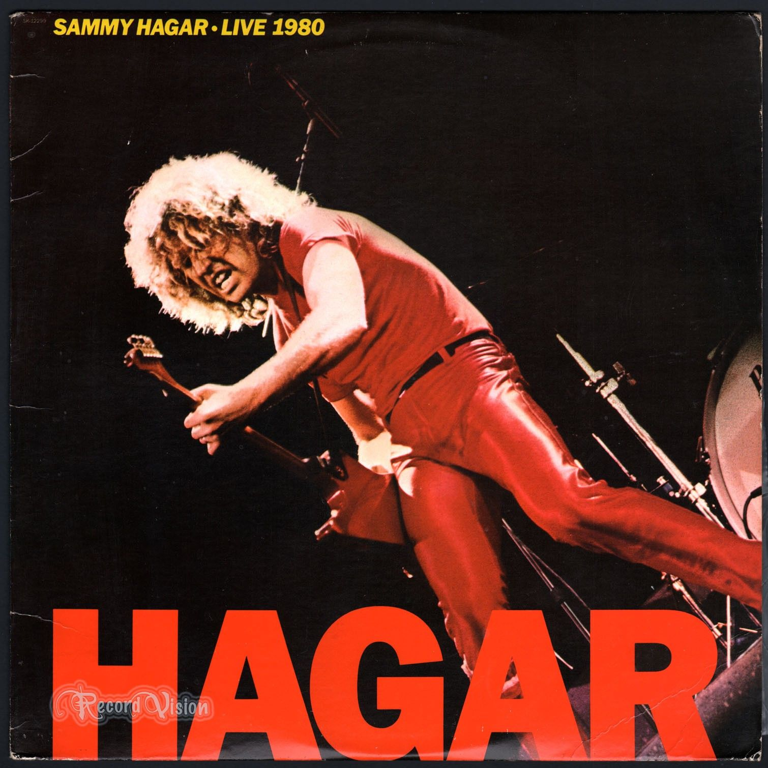 Live 1980 By Sammy Hagar Was Recorded During The Tour Promoting His Then Newest Album Danger Zon Sammy Hagar Vinyl Record Album Capitol Records