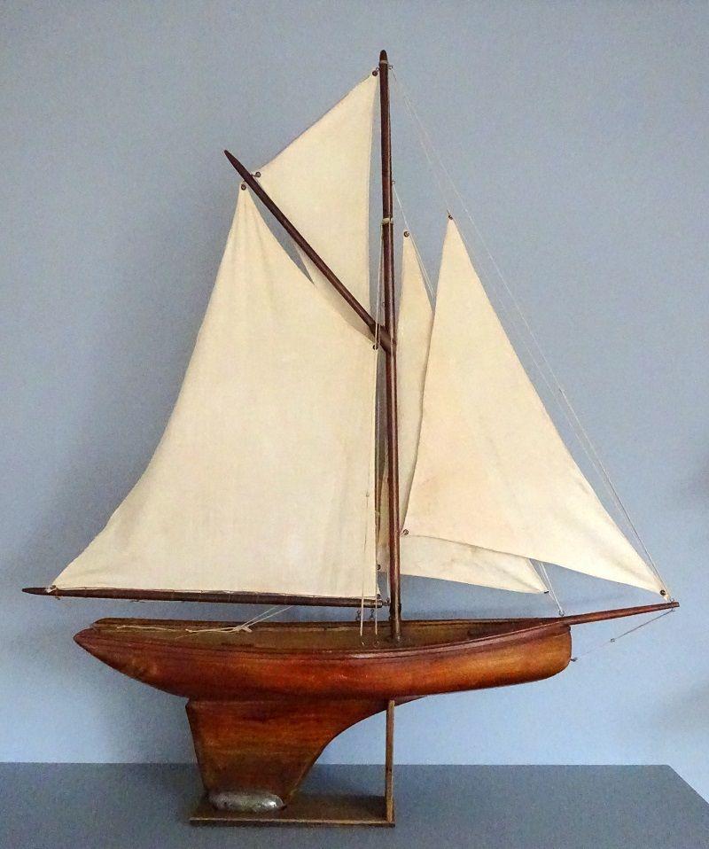 Voilier de bassin lm longueur de la coque 60cm voiliers et bateaux de bassin pinterest - Voilier de bassin ancien nanterre ...