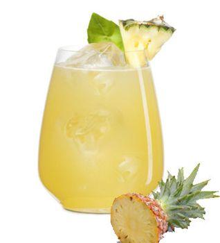 The Veracruzana Pineapple Margarita - Milagro Reposado Tequila, Agave Nectar, Fresh Lime Juice, Pineapple Chunks, Basil Leaves.