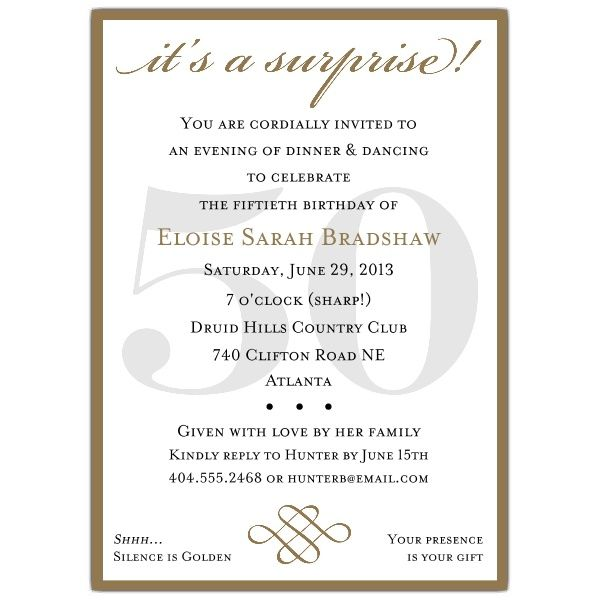1000 images about 60th – Surprise Bday Party Invitations