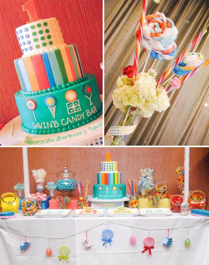 Dylans Candy Bar 1st Birthday Party Ideas Planning Decorations