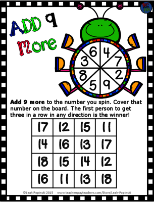 FREE Spring Addition Game from LeahPopinski-SumMathFun on TeachersNotebook.com -  (2 pages)  - This is a FREE Addition Game for you and your students.