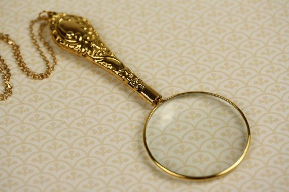 Magnifying necklace goodie goodie gumdrops pinterest gold magnifying necklace mozeypictures Image collections