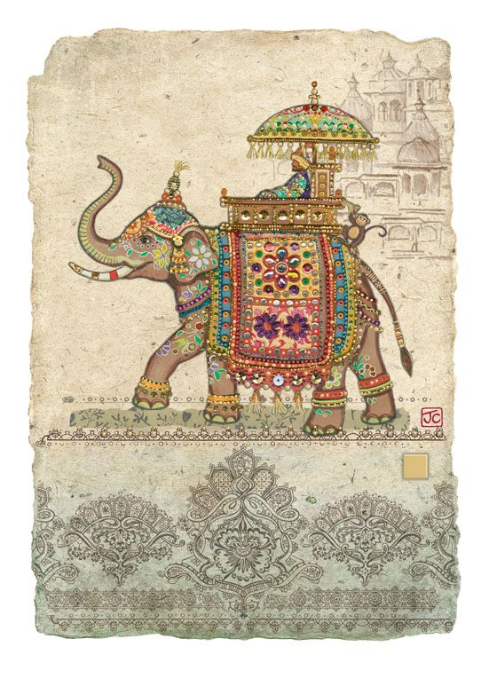 Bug Art D144 Elephant Collage greetings card | Drawing ideas ...