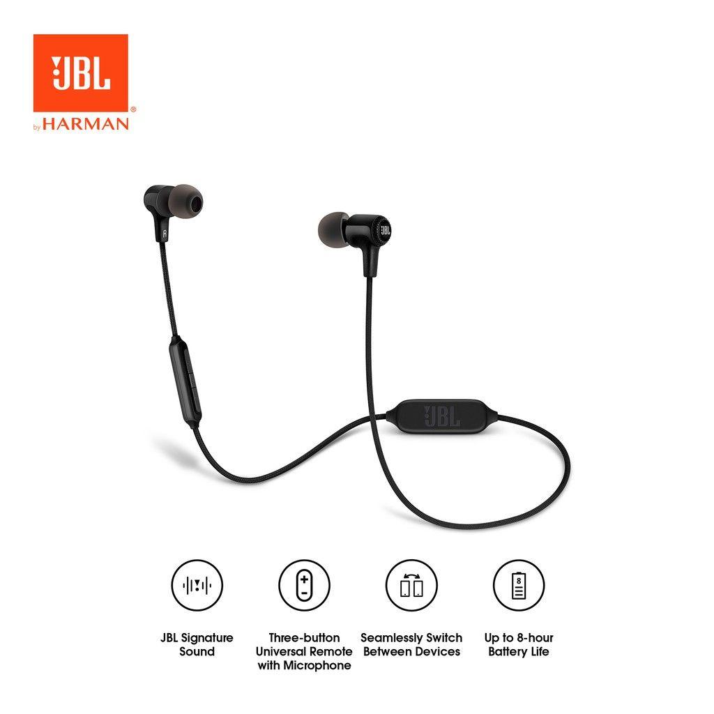 Jbl E25bt Merupakan Headset Bluetooth Dengan Desian Ergonomis Ringan Dan Powerfull Headset Ini Dilengkapi Dengan Micro Earbuds Headphones Electronic Products