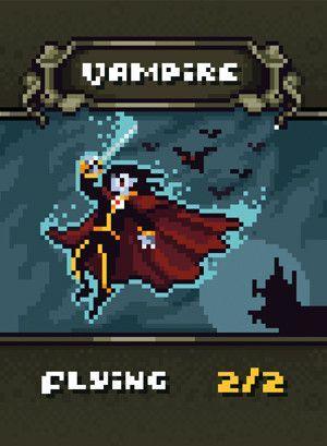 Vampire Token For Mtg Bfr Magic Art Pixel Characters Mtg