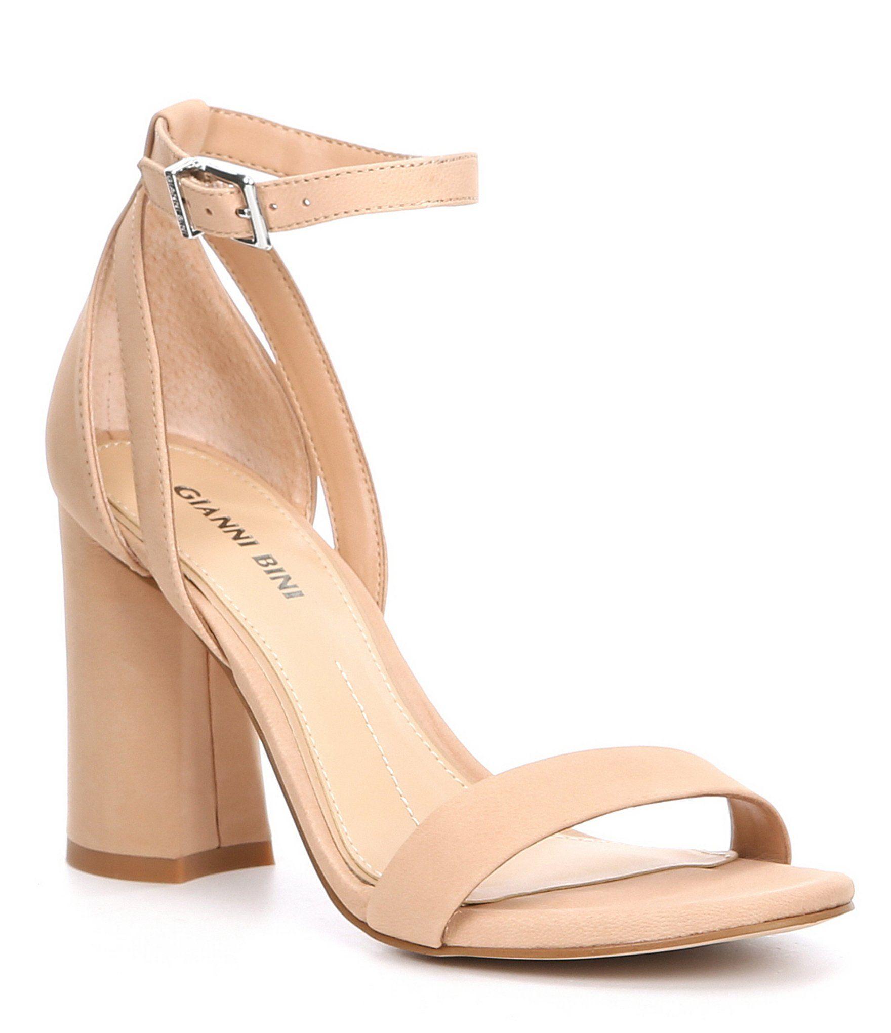 Gianni Bini Linyanne Suede Block Heel Sandals | Heels, Block