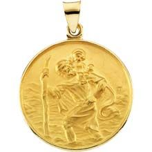 FB Jewels 925 Sterling Silver 29mm St Christopher Medal