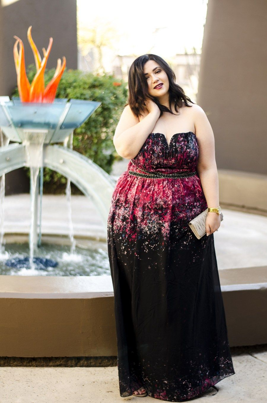 plus size maxi dress dark floral wedding guest what to ...