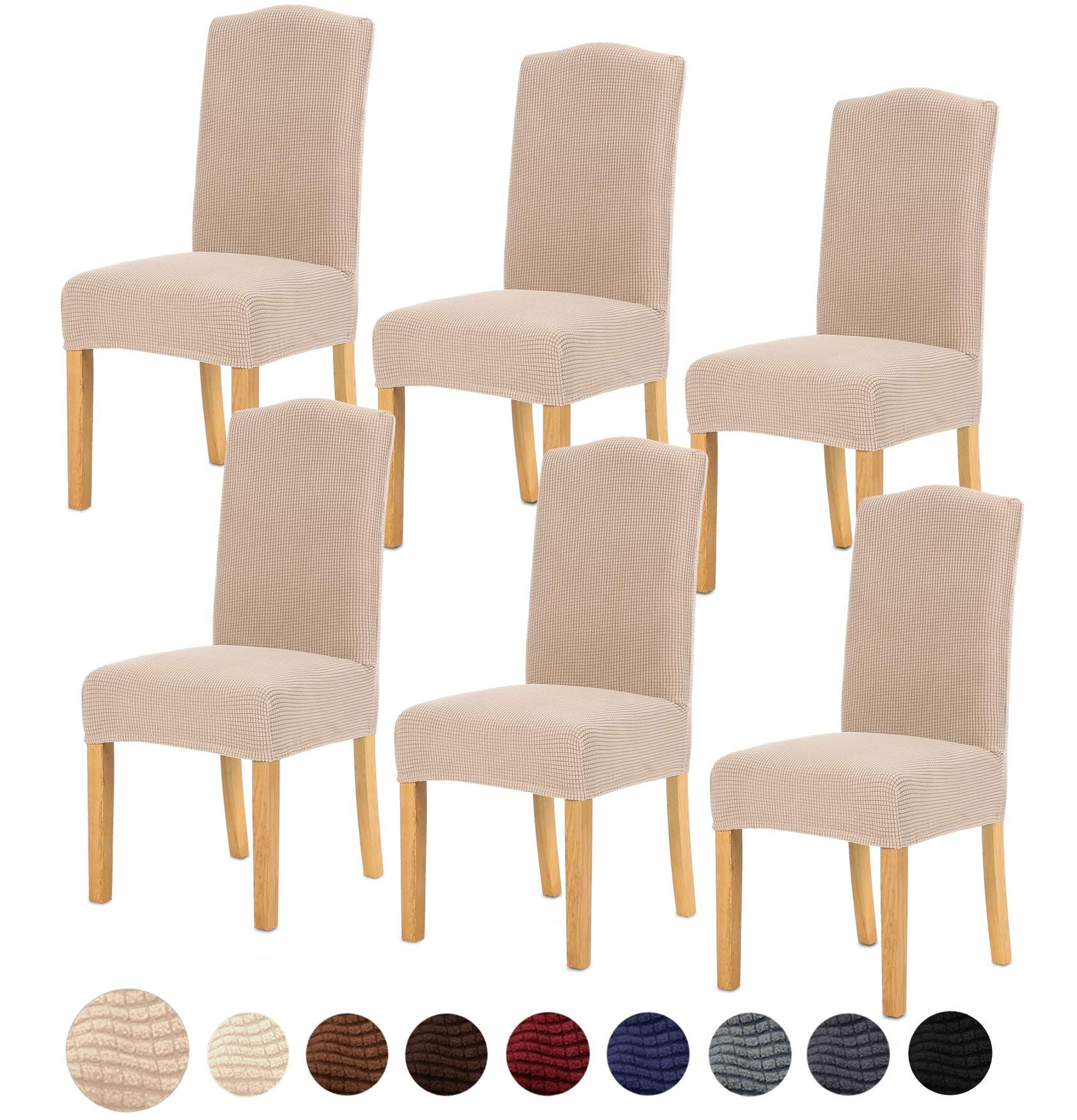 Tianshu Stretch Chair Cover For Home Decor Dining Chair Slipcover 6 Pack Dining Room Chair Covers Dining Room Chair Slipcovers Dining Room Chairs Upholstered