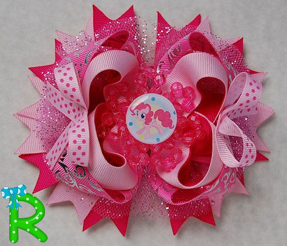 My Little Pony Pinkie Pie bow Hair clips