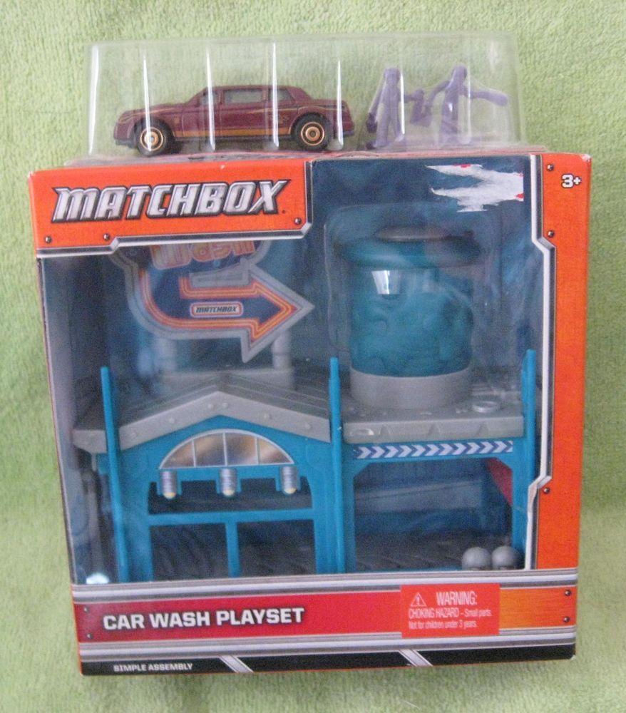 Figure 8 Cars For Sale: Match Box Car Wash Play Set NIB 3+ Mattel #Matchbox