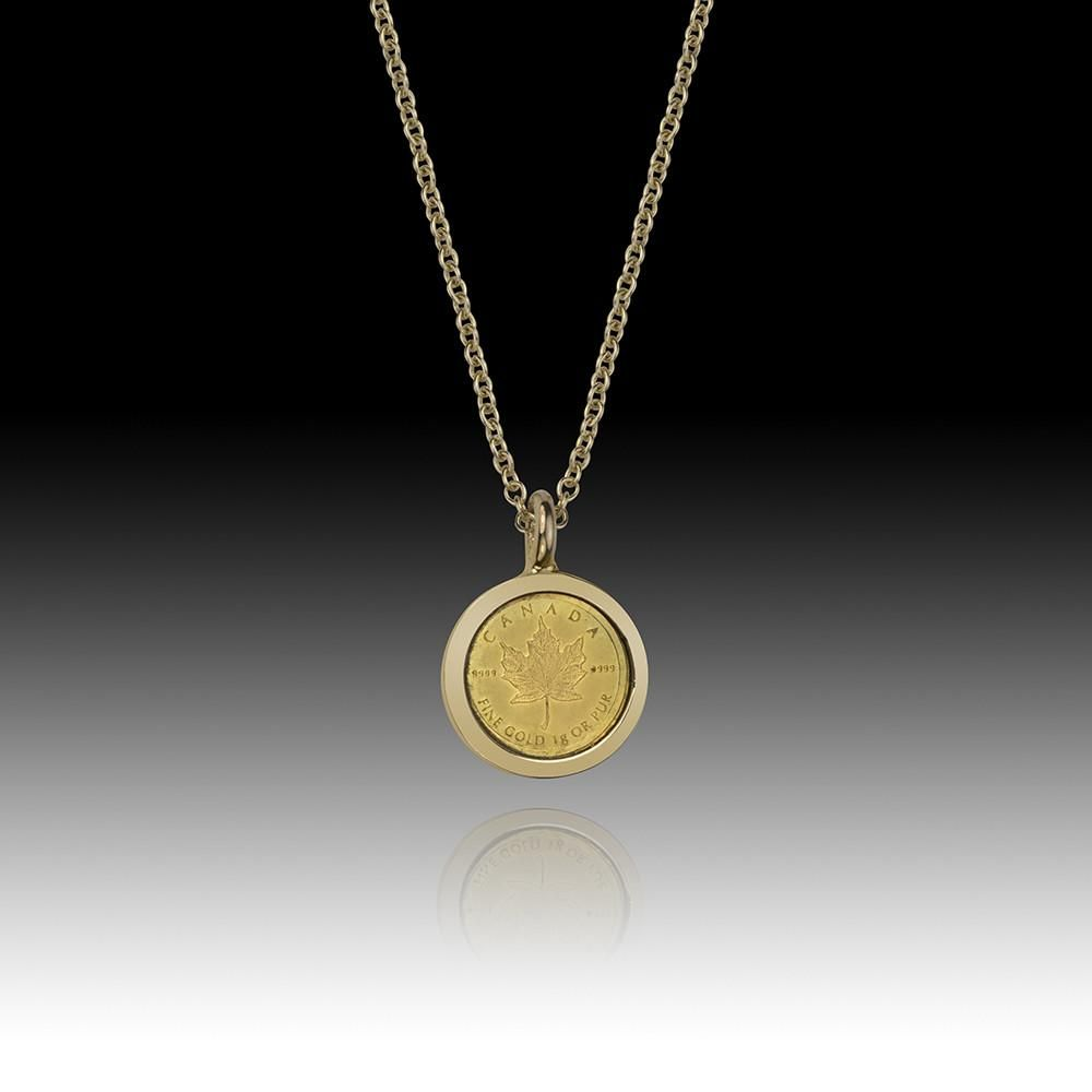 One Gram Gold Bullion Coin Pendant Canada Coin Pendant Gold Bullion Coins
