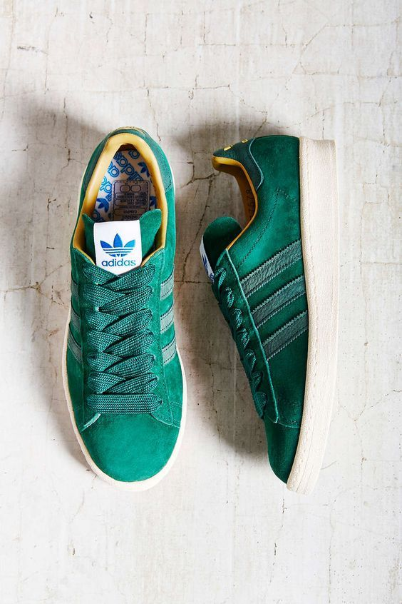 Adidas Originals Suede Campus 80s Sneaker    Green and gold  Yes please.   a72ec3c86