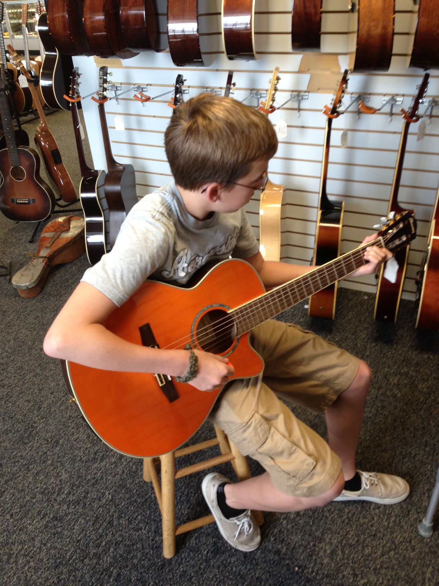 Me At The Austin Vintage Guitar Store In Austin Texas Guitar Store Vintage Guitars Guitar