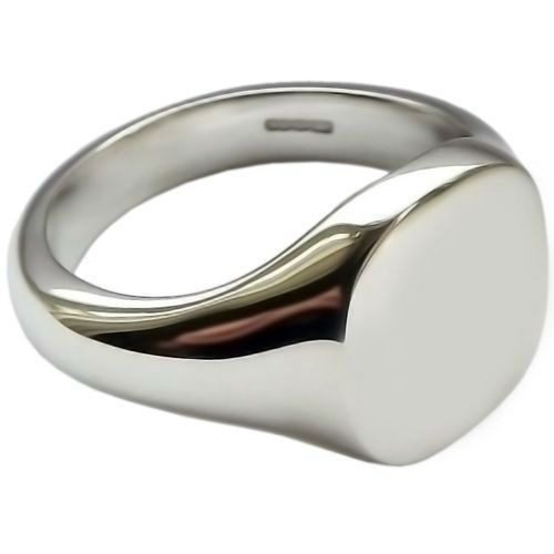 Engravable Size 5,6,7,8,9,10 Oval Flat Signet Ring Pure .925 Sterling Silver