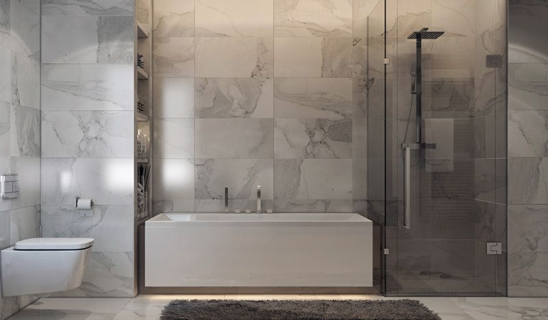 38 Luxurious Bathrooms Decorated With Art Pieces Modern Bathroom Luxury Bathroom Bathroom Design