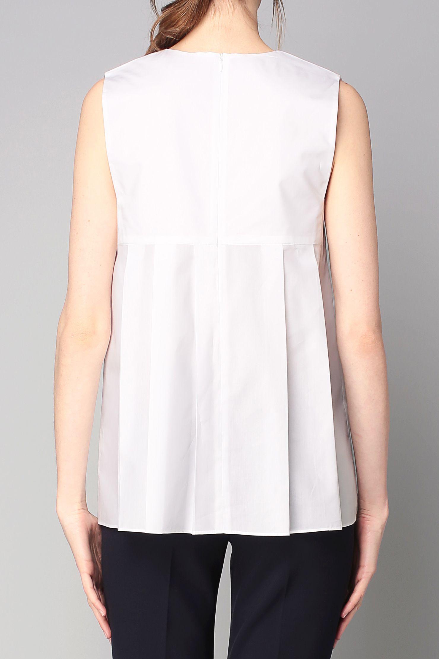 c8115bd6efa5 Débardeur blanc tissu plissé