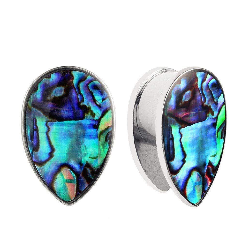 Casvort 2 Pcs New Arrival Fashion Ear Plug Tunnel Body Jewelry Piercing Ear Gauges In 2020 Body Jewelry Piercing Body Jewelry Earrings Body Jewelry Piercing Ear Gauges