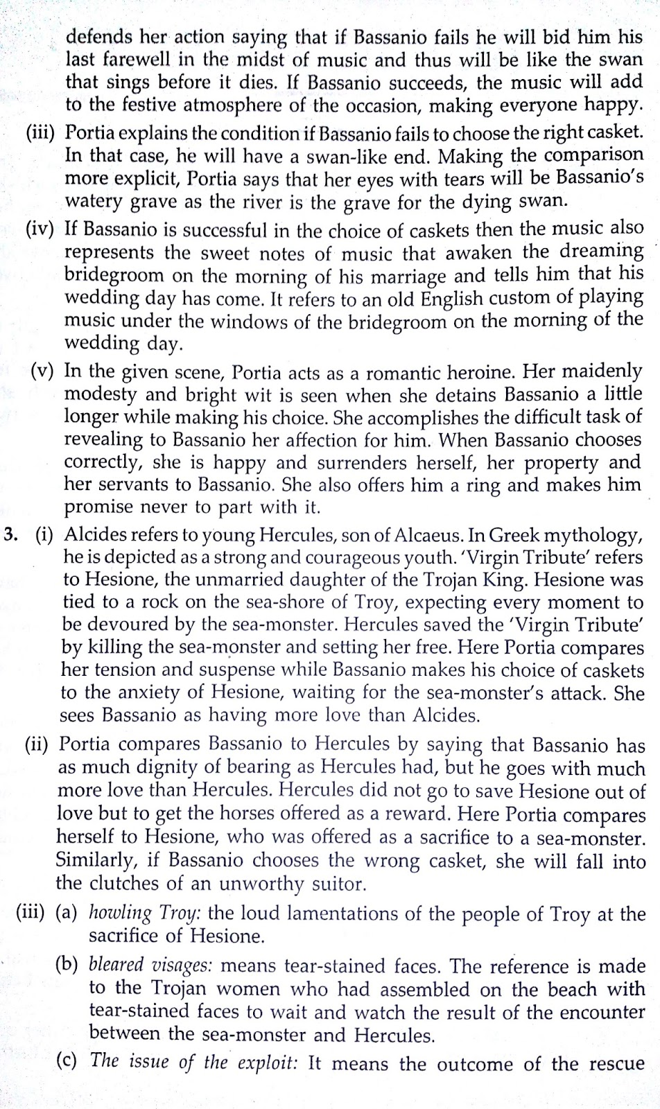 Act 3 Scene 2 Workbook The Merchant Of Venice Free 4 Analysis