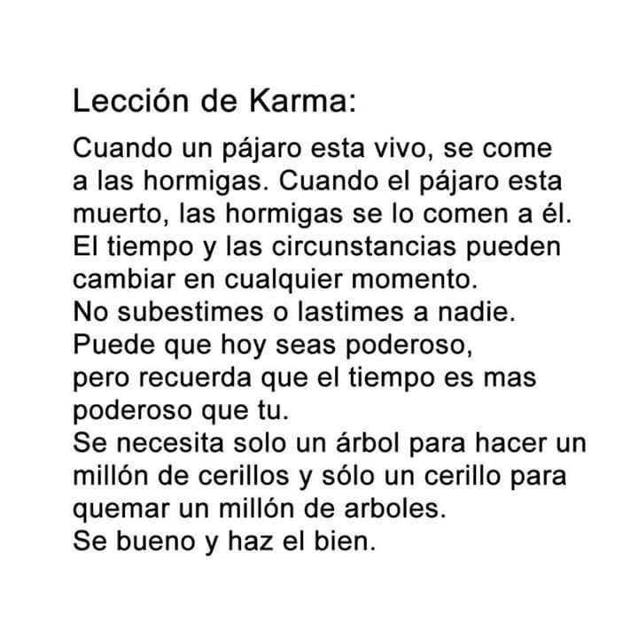 Lección de KARMA...
