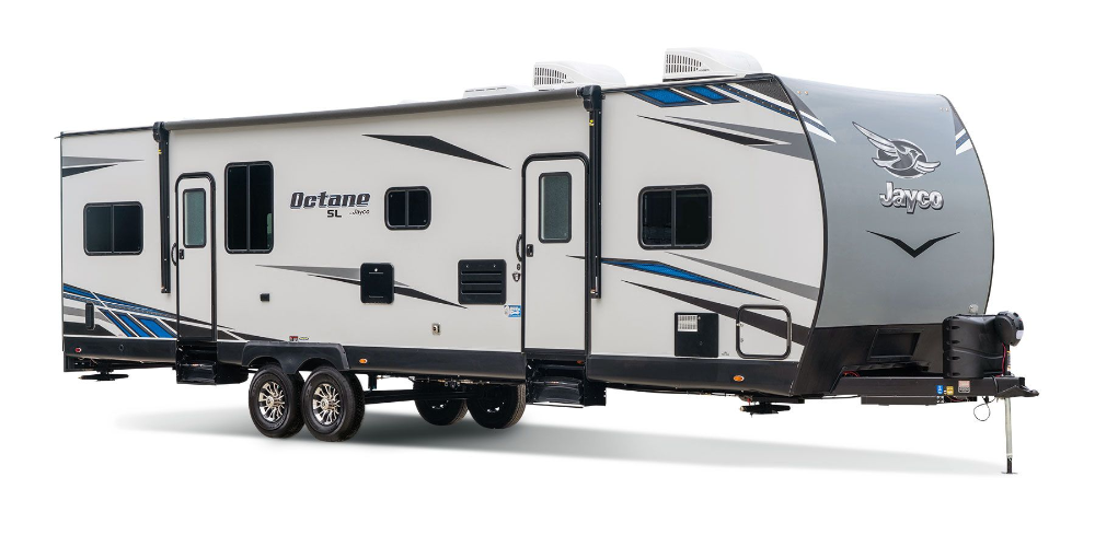 2020 Octane Super Lite Toy Haulers All Seasons R V Inc Toy Hauler Lightweight Travel Trailers Camping Necessities