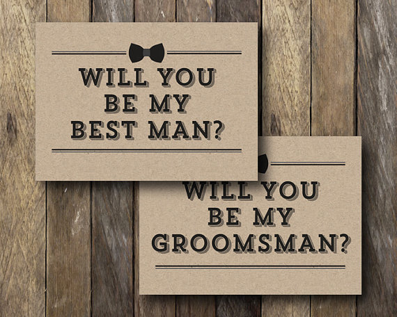 Printable Groomsman Card Will You Be My Best Man Instant Download Best Man Card Groomsman Cards Wil Groomsman Card Be My Groomsman Bridal Party Cards